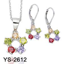 China <b>New Arrival 925 Silver</b> Jewelry Set with Colored Earring Set ...