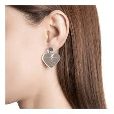 Купить <b>серебристые</b> серьги-<b>сердца</b> Kiseleva Jewel, цена на ...