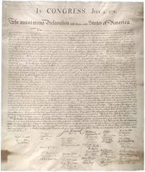 the declaration of independence   the gilder lehrman institute of    stone facsimile of the declaration  created    glc