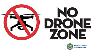 Common no-fly zones for drones in the US