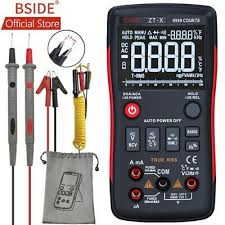bside ture rms digital multimeter zt101 multifunction ac dc voltage current resistance capacitance frequency tester
