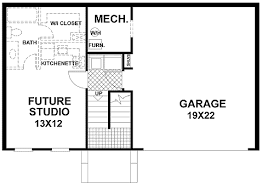 Plan W GA  Traditional Split Level Home Plan   e ARCHITECTURAL    W GA
