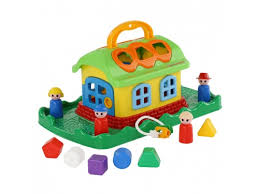 Купить игрушку-<b>сортер Полесье Сказочный домик</b> на лужайке (в ...