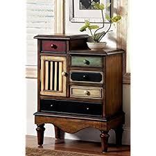 furniture of america circo vintage style storage chest antique walnut amazoncom stein world furniture anna apothecary