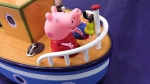 Видео с игрушками - Свинка Пеппа, <b>самолет</b> и кораблик - YouTube