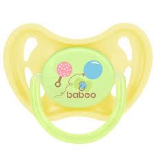 Пустышка <b>Baboo Соска Baby</b> Shower круглая латексная 0+ мес ...