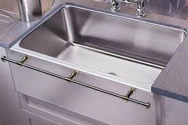 just mfg stainless steel apron front single bowl undermount kitchen sink with optional towel bar apron kitchen sink