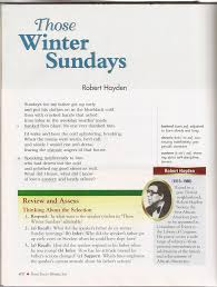 poetry ms s anderson s class website for  those winter sundays