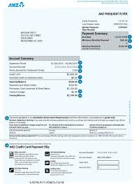 reading your credit card statement anz