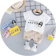 Korean Style Children <b>Cutie Little Penguin</b> Cotton T-Shirt Short ...