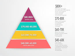 gis salary expectations climb the gis career ladder gis geography gis salary pyramid infographic infogeographic click to enlarge