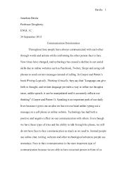 communications technology essay technology and communication effects on life davila jonathan davilaprofessor doughertyengl c september  communication deterioration