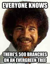 Everyone Knows There's 500 branches on an evergreen tree - Know-It ... via Relatably.com
