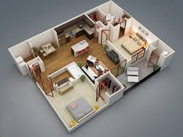 Bedroom Apartment House PlansIn this post  we    ll show some of our favorite two bedroom apartment and house plans all shown in beautiful D perspective