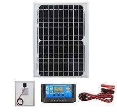 <b>10W</b> Mono <b>Solar Panel</b> Battery Charging <b>Kit</b> with Charger Controller ...