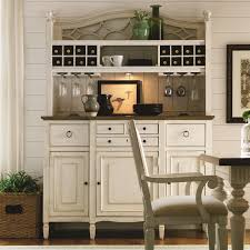 Summer Hill  Pc Serving Buffet And Bar Hutch With Wine Storage - Dining room cabinets for storage