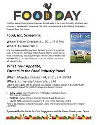 university the center for civic engagement past food day flyer