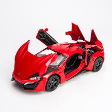 <b>KIDAMI</b> 1:32 Fast And Furious Lykan <b>Alloy Cars</b> Models Four Color ...