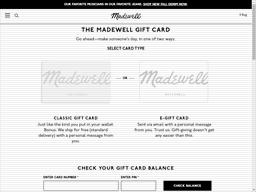 Madewell | Gift Card Balance Check | Balance Enquiry, Links ...