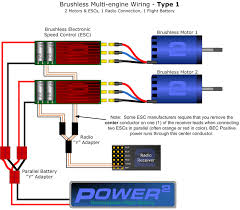 multi engine esc wiring 2bfly brushed