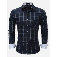 <b>High Quality 100 Cotton</b> Spring Autumn Shirt Men Solid Slim Fit ...