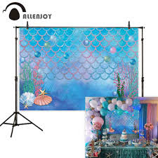 <b>Allenjoy photo background mermaid</b> fish scales under the sea ...
