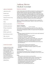 medical administrative assistant resume sample administrative chiropractic