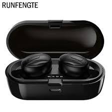 <b>RUNFENGTE Bluetooth Earphone</b> 5.0 Headset TWS Binaural ...