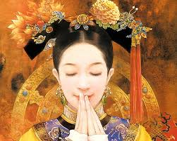 ... Art Illustration, Chinese Innocent Beauty, Chinese Accient Beauty, Art Illustration of Chinese Beauty in Ancient Costum, Qing Dynasty beauties ... - abr_der_jen_006