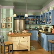 green kitchen with blue painted cabinets blue cabinet kitchen lighting