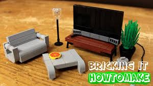 Lego Furniture How To Make Lego Modern Living Room Furniture 20 Moc Basic