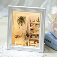 diy doll house creative photo frame wall wooden dollhouses furniture miniature dollhouse 3d puzzlestoys birthday gifts cheap wooden dollhouse furniture