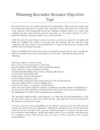 recruiter resume resume planner and letter tips for winning recruiter resume xoqmfrkm