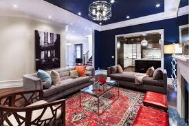 decor red blue room full: colour schemes for living rooms with red carpet studio