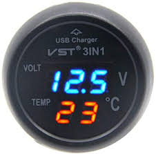 Hot <b>Mini</b> Car LCD Voltage Meter Battery Monitor <b>12V</b>-<b>24V</b> Black,<b>Red</b> ...
