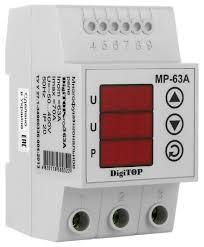 <b>Реле контроля напряжения Digitop</b> MP-63А — купить онлайн по ...