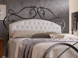 wrought iron bed with white leather tufted headboard with modern iron beds also iron bed headboard bedroom endearing rod iron