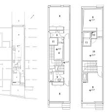 narrow house by ohad yehielifloor plans