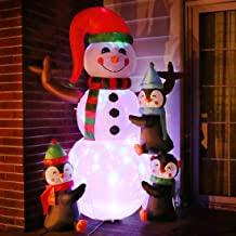 Tangkula 6 <b>Inflatable Snowman LED</b> Airblown Yard Holiday ...