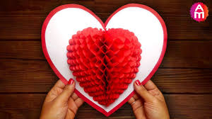 <b>DIY</b> 3D <b>Heart</b> ❤️ Pop Up Card | Valentine Pop Up Card - YouTube
