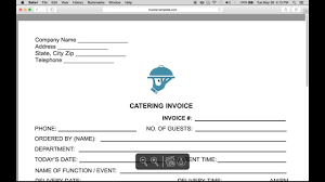 make a catering food service invoice pdf word excel