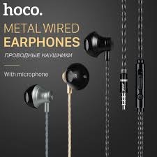 2017 <b>HOCO</b> Best <b>Metallic</b> Bass Stereo Earphone with Mic In ear ...