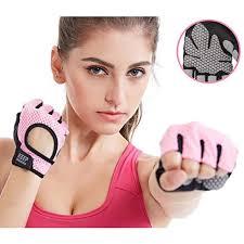 Buy Anti-skid <b>Half Finger Gym</b> Gloves Sports Body Building Training ...