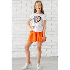 <b>Юбка</b>-<b>шорты для девочки</b> Looklie 6566135 оранжевый купить ...