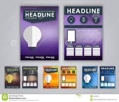 design flyers brochures stock vector image 54608812 design flyers brochures