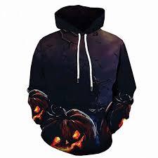 Men Pullover Hoodie <b>Halloween</b> Scary <b>Pumpkin</b> 3D <b>Print</b> Long ...