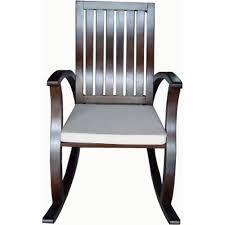 Noble House Manhattan Wood <b>Rocking Chair Brown</b> Mahogany ...