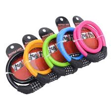 <b>4 Digit</b> Combination Password <b>Cycling Security Bike Bicycle</b> Cable ...