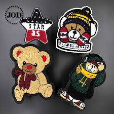 12x18.5cm Big Brown Embroidery <b>Bear Patch</b> Sew on Soldier ...