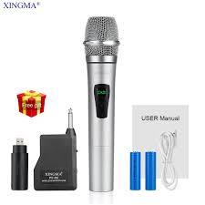 XINGMA PC K6 <b>Wireless Microphone Karaoke</b> professional Studio ...
